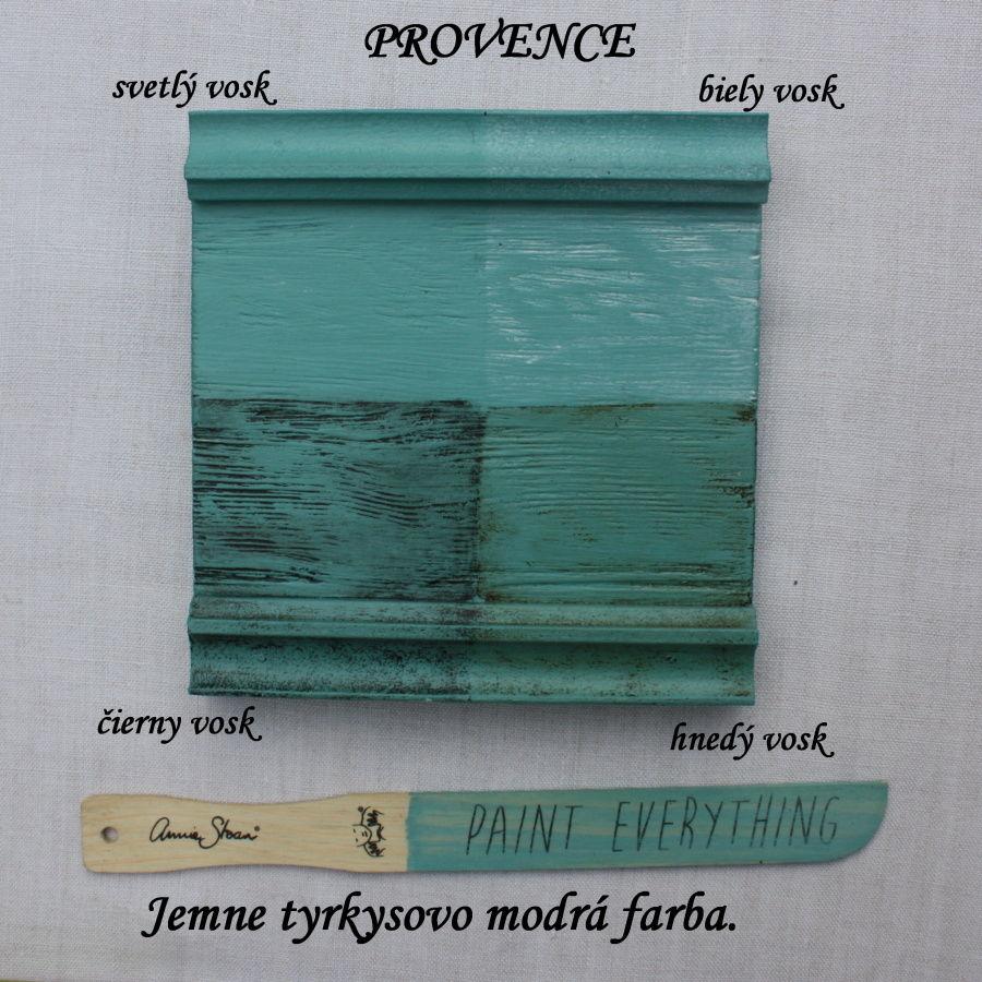 Vzorka zavoskovanej kriedovej farby Annie Sloan provance.