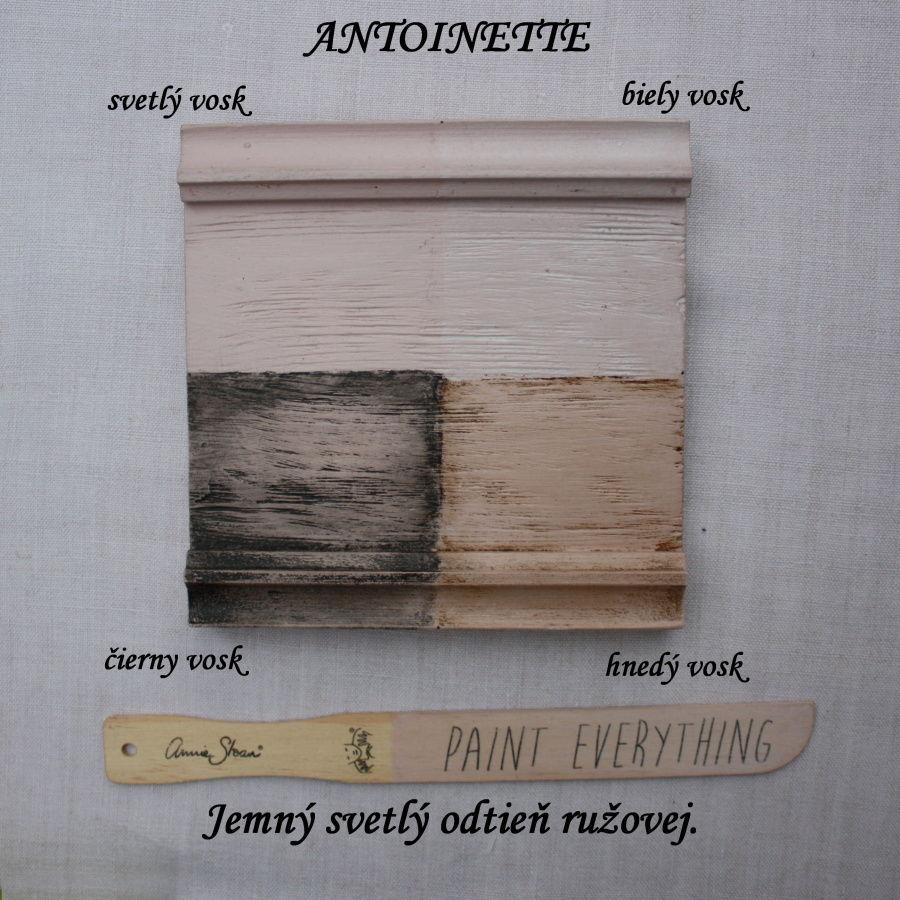 Vzorka zavoskovanej kriedovej farby Annie Sloan antoinette.