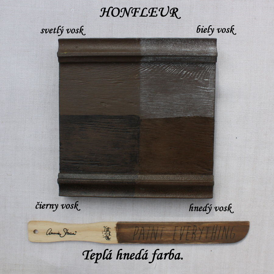 Vzorka zavoskovanej kriedovej farby Annie Sloan honfleur.