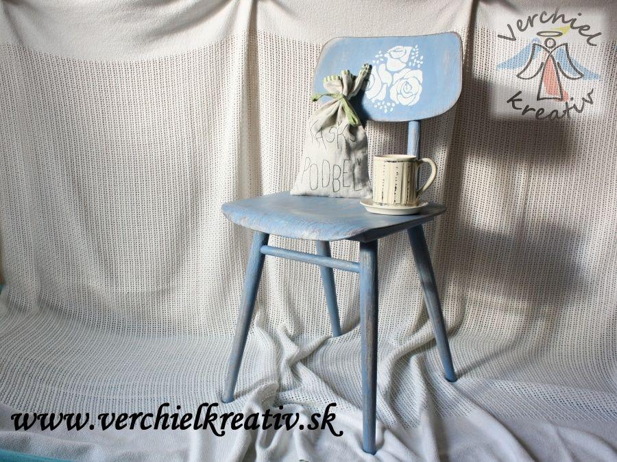 dekoračná stolička GREEK BLUE