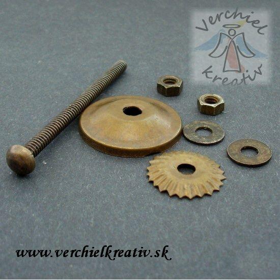 Keramická úchytka na nábytok, komponenty.