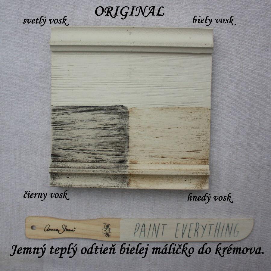 Vzorka voskov Annie Sloan na kriedovej farbe original.