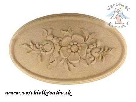Výlisok ornament z dreveného prachu.