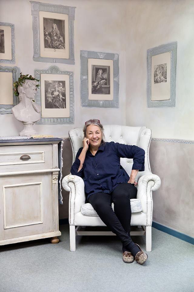 Annie Sloan dizajnér, maliar, veľa inšpirácie atvorivosti.