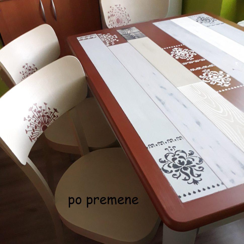 Svetlana Cukrovaná stôl premena