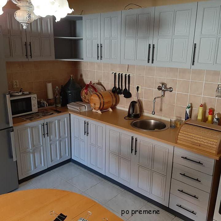 kuchynská linka pomaľovaní kriedovou farbou Annie Sloan