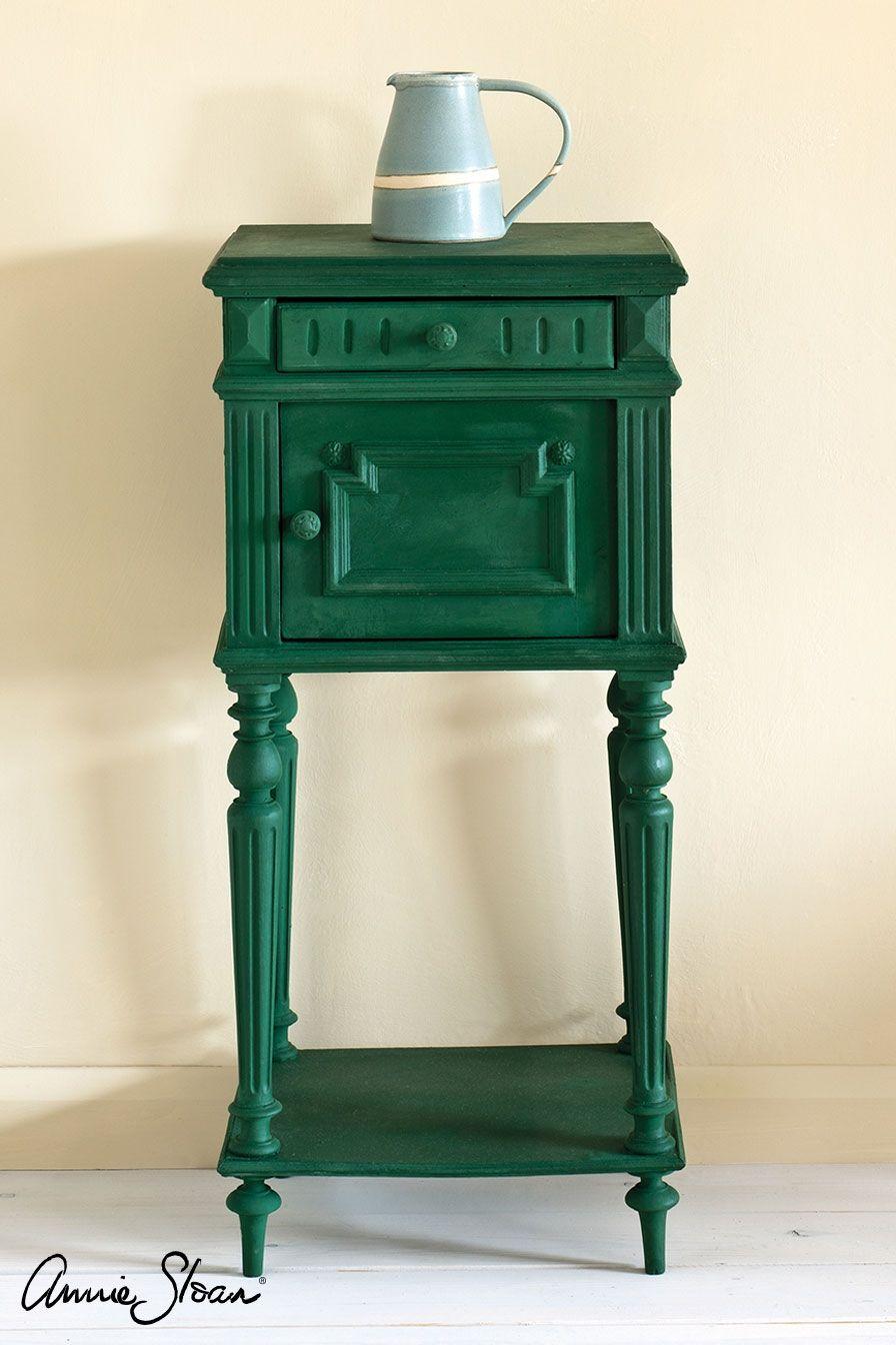 amsterdam green stolík, , kriedová farba na nábytok Annie Sloan