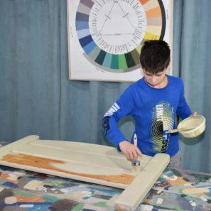 Maľovanie kriedovou farbou Annie Sloan.